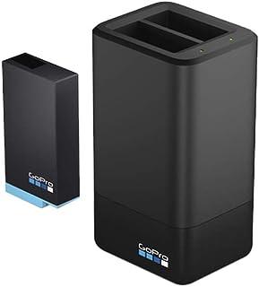 GoPro ACDBD-001-EU Cargador de Batería Dual y Batería para MAX (Accesorio Oficial de GoPro) Negro
