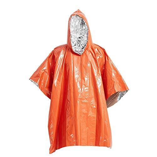 DUDUDU Poncho Antipioggia Pioggia Poncho, Cappotto di Pioggia Impermeabile per Bici, Moto,Trekking, Campeggio,
