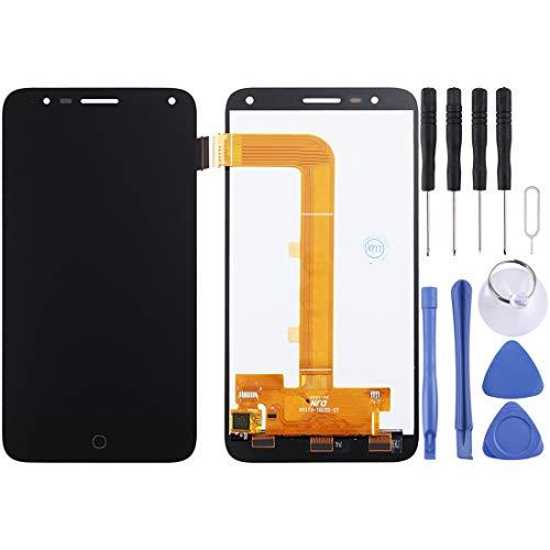 PENGCHUAN Partes de reparación de teléfonos móviles For Alcatel One Touch Pop 4/5051 Pantalla LCD Ensamblaje de Pantalla táctil digitalizador (Color : Black)