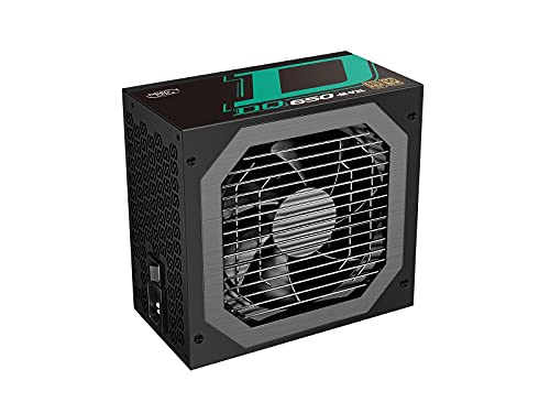 DEEP COOL DQ650-M-V2L Alimentatore per PC, Design Completamente Modulare da 650 w, Certificazione 80 Plus Gold, Condensatori Giapponesi al 100%, 10 Anni di Garanzia