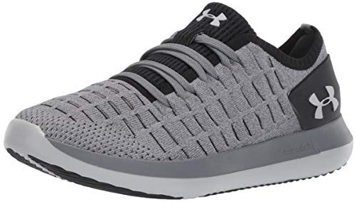 Under Armour Women's Slingride 2 Sneaker, Pitch Gray (106)/Black, 8 M US