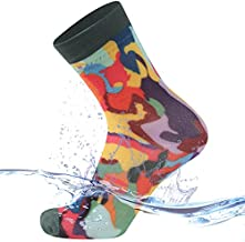 SuMade 100% Ultrathin Waterproof Hiking Socks, Women Athletic Quick Dry Water Sports Socks Youth Breathable Rain Boot Novelty Socks Summer Swimming Running Cycling Crew Socks (Multicolored, Small)