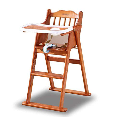 Buy Bargain Folding Chairs Children's Dining Chair Solid Wood Folding Baby Baby Eating Chair Multi-F...