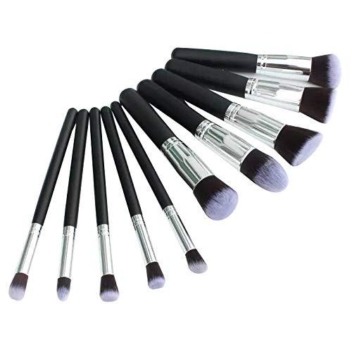 BestMall Kit De Pinceau Maquillage Professionnel 10PCS Noir Eyebrow Shadow Blush Fond De Teint Anti-Cerne (color1)