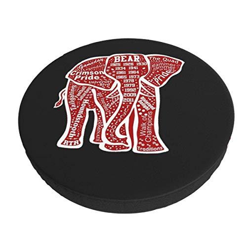 Funda de cojín de Silla de Barra Redonda Lavable extraíble de Elefante Rojo Funda de cojín de Taburete elástico 12 Pulgadas