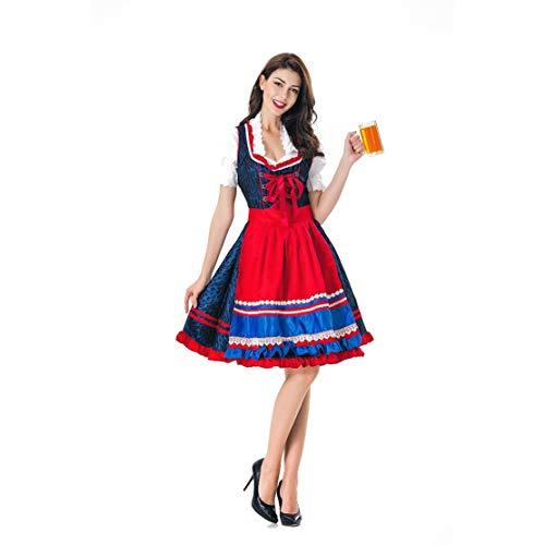 Mikelabo - Vestido de criada bvara alemn para mujer, disfraz de anime, disfraz de sirvienta francesa, traje de Halloween Dirndl Oktoberfest