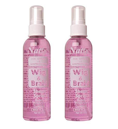 Natty Wig & Braid Sheen Spray 4 oz (Pack of 2)