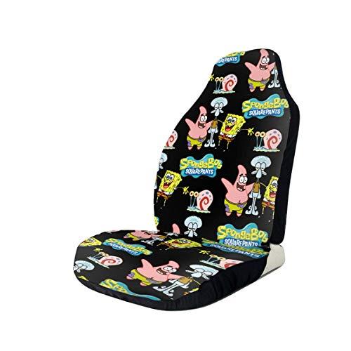 Spon-Gebob Squa-Repa-NTS Car Seat Covers Set Front Bucket Seats Protector Cover Full Set Universal Fit Any Trucks Vans SUV 1 Pcs