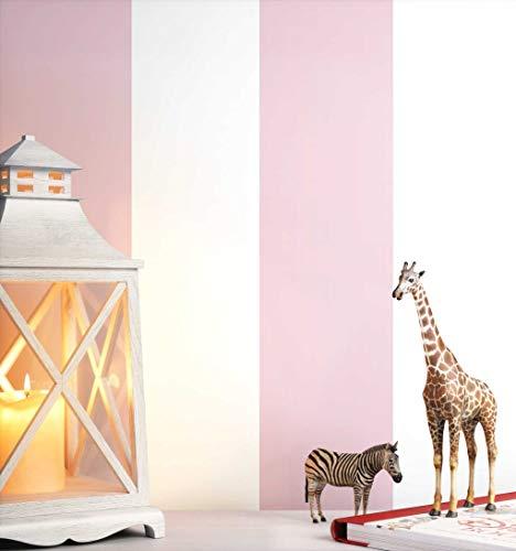 NEWROOM Kindertapete rosa Streifen gestreift Kinder Vliestapete Vlies Kindertapete Kinderzimmer Babytapete Babyzimmer Grafisch