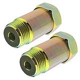 BIYM - Extensión de Sensor de oxígeno (2 Unidades, M18 x 1,5, 45 mm)