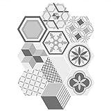 PVC Baldosas De Cemento Hexagonal Fondo De Pantalla Autoadhesiva para La Cocina...