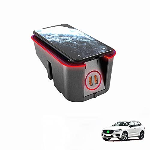 Paobiy El cargador inalámbrico del coche es aplicable para VolvoXC90XC60V90V60S90S60 2016-2021 panel de accesorios de la consola central, almohadilla del cargador del teléfono de carga rápida de.