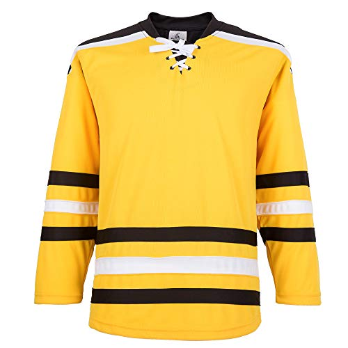EALER H900-E Series Multicolor and Blank Ice Hockey League Sports Practice Jersey -Boys and Girls- Adult and Youth-Senior to Junior(Yellow,XX-Large)