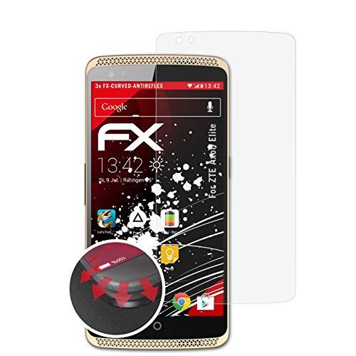 atFolix Schutzfolie kompatibel mit ZTE Axon Elite Folie, entspiegelnde & Flexible FX Bildschirmschutzfolie (3X)