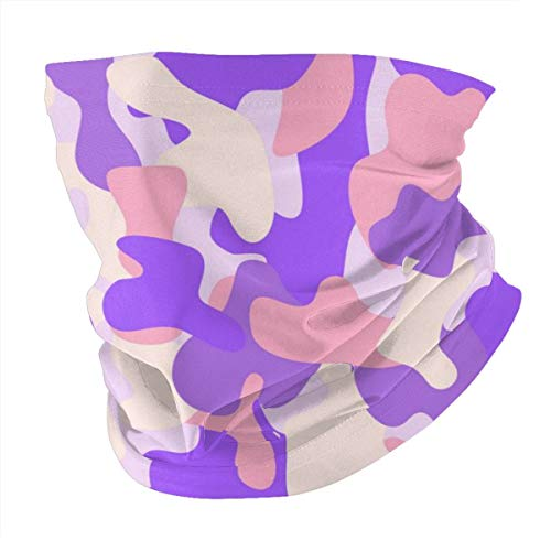 Kopftuch, personalisierbar, Kopfband, Sport, Camouflage, nahtloses Muster, Pink / Violett