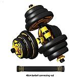 JJZD Mancuerna mancuerna Set Home Fitness 20Kg par de Barbells 30Kg de Peso Ajustable Combinación Brazo Peso Entrenamiento físico Efectivo (Color : Negro, Size : 15KG)