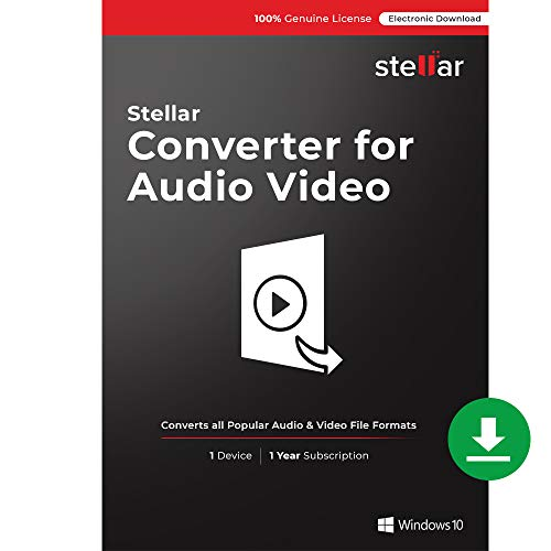 Stellar Converter for Audio Video | Converts Video to Video, Video to Audio & Audio to Audio formats | Windows | Download