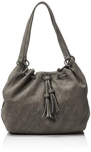 Gabor Shopper Damen Vanda, Grau (Dunkelgrau), 34x30x10.5 cm, Gabor Tasche Damen