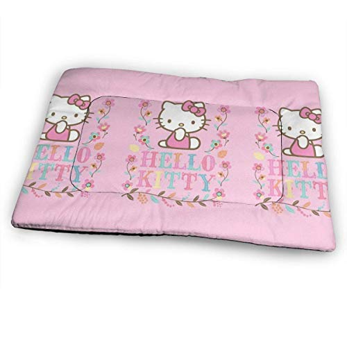 YAGEAD Huge Pet Pad, Pink Hello Kitty Soft Dog Bed Mat, Anti-Slip Pet Kennel Bed for Oversized Pet,31'x21'-F7V