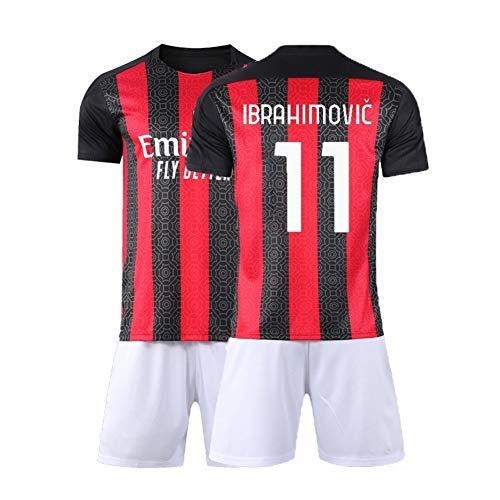 XH Zlatan Ibrahimović 21# Fußbälle Trikot-Set Herren Kinder T-Shirt Weste , Kinder und Erwachsene Aller Größen (Color : B, Size : Children-130)
