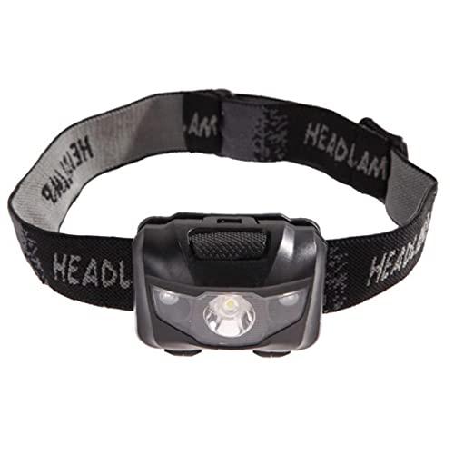 LED Faro de energía de la batería de 170 Grados Ángulo Impermeable de la Cabeza de luz de Flash para Acampar al Aire Libre Pesca Correr Negro
