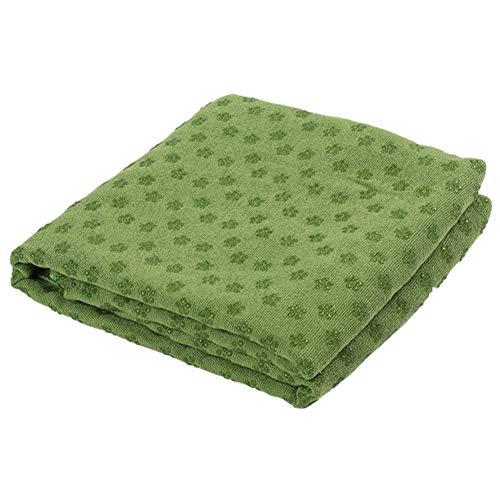 JIUTAI Toalla de yoga antideslizante manta de yoga de secado rápido extra larga para yoga caliente y pilates verde