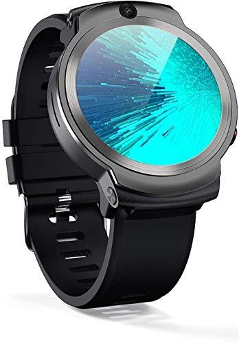 hwbq Reloj inteligente Android 4G Teléfono 360 grados de rotación de doble cámara WiFi tarjeta Bluetooth GPS posicionamiento desgaste diario/marrón/negro