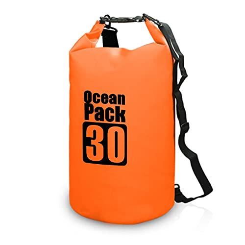 Ntjsmc Impermeable mochila al aire libre bolsa de natación bolsa roll Top Dry Sack Dry Backpack Water Flotante Bag para navegación Pesca Surf 30L
