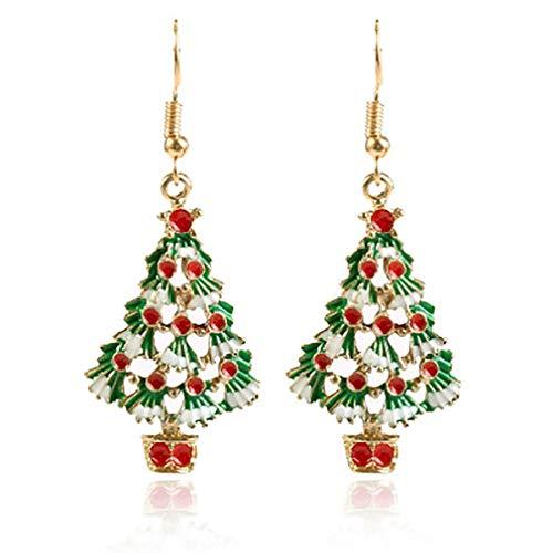 CandyTT Chrismas Earring Pendant Simple Generous Jewelry Decoration Girls Woman Lady Ornaments Present Elegant (colorful)