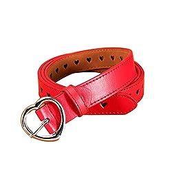 bigcity Fashion Heart Pin Buckle Wide Faux Leather Belt Women Waist Strap Waistband