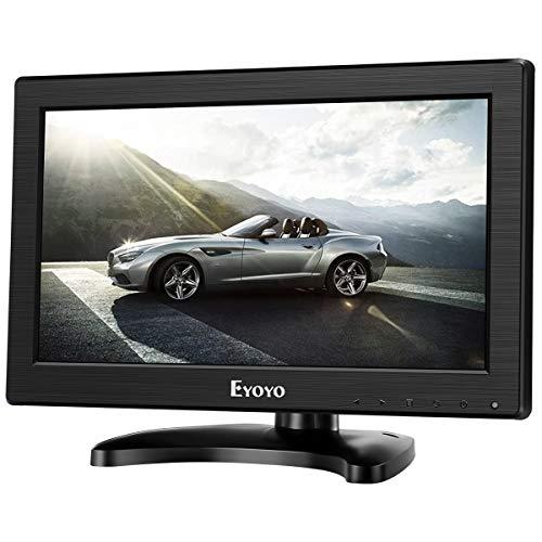 """Eyoyo schermo a colori 12""""pollici 1366 * 768 alta risoluzione TFT LCD CCTV HDMI HD Monitor a colori con AV/HDMI/BNC/VGA/funzione TV"""