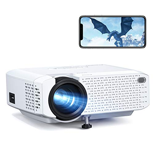 Crosstour Mini Wi-Fi Phone Projector, Wireless Portable LED Video Projector Supports 1080P Movie, 176