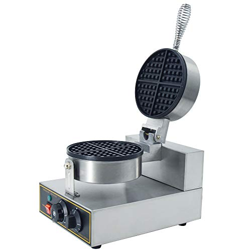 TAIMIKO Commercial Waffle Maker 1400W Nonstick Electric Waffle Machine Stainless Steel 110V Temperature and Time Control Waffle Bake Machine for Home,Commercial Use