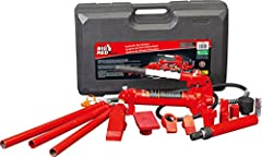 "Complete kit includes a variety of auto body, frame repair and construction components for lifting, pushing, pulling, bending, straightening and spreading Ideal for your workshop or garage and has a 4 ton (8,000 lb) load capacity; Includes 20-7/8"", 1..."