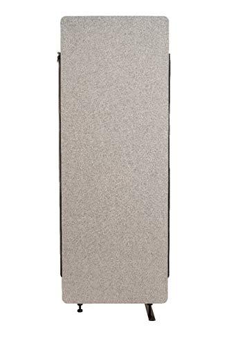 Luxor RCLM-RDE-MG Akustik Raumteiler, Büro Trennwand, Sichtschutz, Schallschutz, Stellwand, schallabsorbierend, erweiterbar, Hellgrau, 168 x 61 x 3 cm (H x B x T)