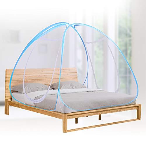 Winload Faltbare Moskitonetz, Tragbare Pop Up Fliegennetz Bett, Doppelter Eingang Reise Moskitonetz, Falten Anti Moskito Zelt für Doppelbett, Moskitonetz Freistehend für Heim Outdoor-Reisen