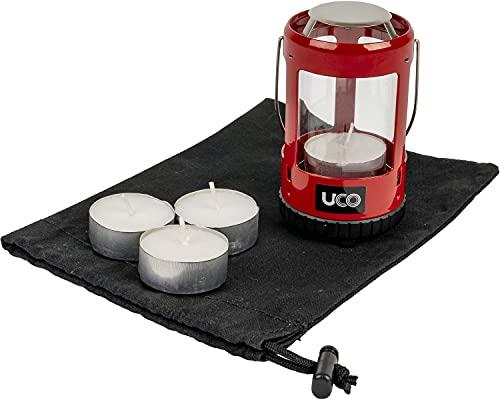 UCO Mini Candle Lantern Kit 2.0 Kerzenlaternen-Set, Rote Pulverbeschichtung, Einheitsgröße