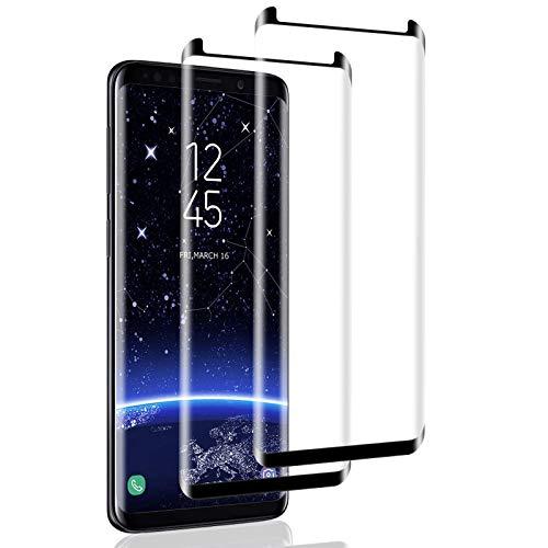 Mriaiz Verre Trempé pour Galaxy S8, [2 Pièces] [Full Coverage] [Anti Rayures] [Ultra Claire] [Dureté 9H] Film Protecteur en Verre Trempé de Haute qualité pour Samsung Galaxy S8