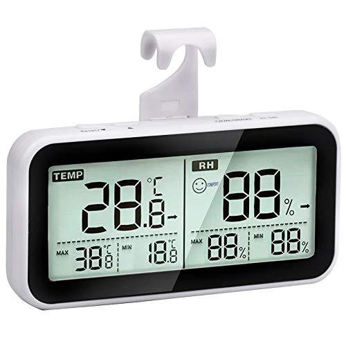 Termómetro higrómetro digital para interior, termómetro, higrómetro, medidor de humedad, medidor de temperatura, control de temperatura ambiental, control de aire ambiental, habitación de bebé