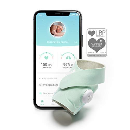 Baby monitor Smart Sock 3 di Owlet con misurazione dei valori di ossigeno e frequenza cardiaca