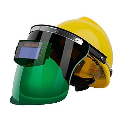 #N/A Solar Powered Welding Helmet Auto Darkening Professional Hood Adjustable Shade Range 4/9-13 for Mig Tig Arc Weld Grinding Welder Mask - Small viewing screen