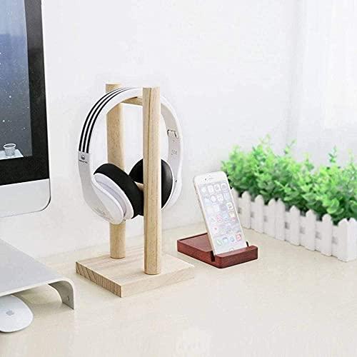 Auriculares de madera soporte para auriculares Titular de la suspensión para auriculares para auriculares de juegos y AMP DJ Studio Headphones Desktop Headphone Soporte para Sony / Beats / Sennhe