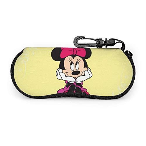 GERERIC Estuche Para Las Gafas,Mickey Mouse Estuche Plegable De Gafas,Funda De Neopreno Con Cremallera,Funda Portátil Caja Para Gafas De Sol