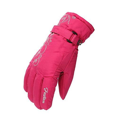YIBANG-DIANZI para Esquiar de Invierno. Mens Multifuncional Impermeable librar Guantes de esquí Invierno cálido Snowboard Moto de Nieve Clima frío Guantes de Nieve Guantes de esquí (Color : Pink)