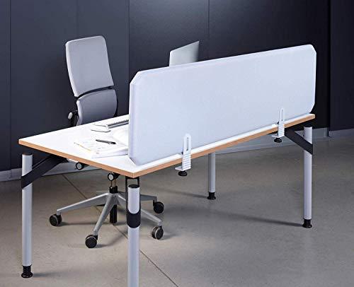 Concept Oktagon Akustik Trennwand, Schallschutzwand Tisch, Schallschutz Paneel, Stellwand schallabsorbierend, DIN EN 354, Größe: 1200x435x50mm, Farbe: grau