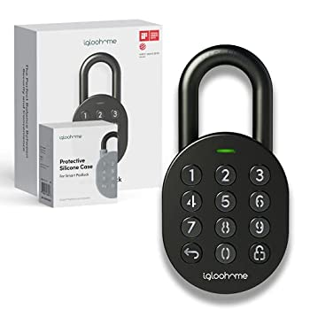 Igloohome Smart Padlock Smart Lock w/ Case- IOS/Android App Remotely Generates Bluetooth-Keys/Pin Codes for single Use Recurring Specific Dates Lock Needs No Internet - for Storage Bikes Lockers
