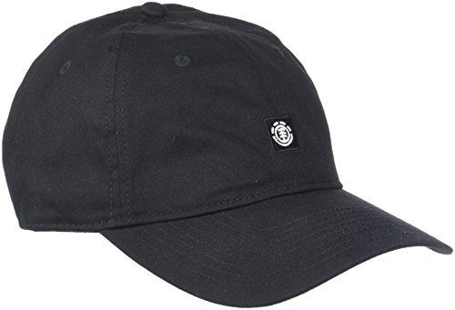 Element Fluky Dad Cap Caps, Hombre, All Black, One Size