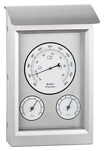 GardenMate - Estación meteorológica analógica, barómetro, termómetro, higrómetro para interior y exterior