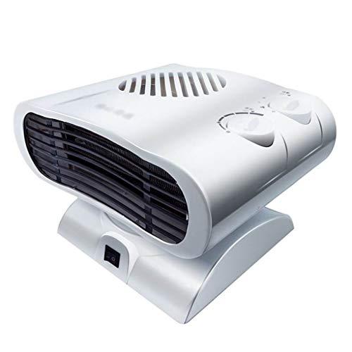 Ventilateur électrique à double usage de refroidissement et de chauffage, tête de lit silencieuse sans feuille (Color : White)