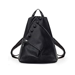 Mochila de Cuero Vintage Bandolera La Bolsa Hombro Messenger Bag Laptop Backpack Mochilas Sport para Hombres Mujer,30…